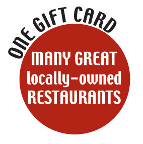 Many great restaurants, one gift certificiate